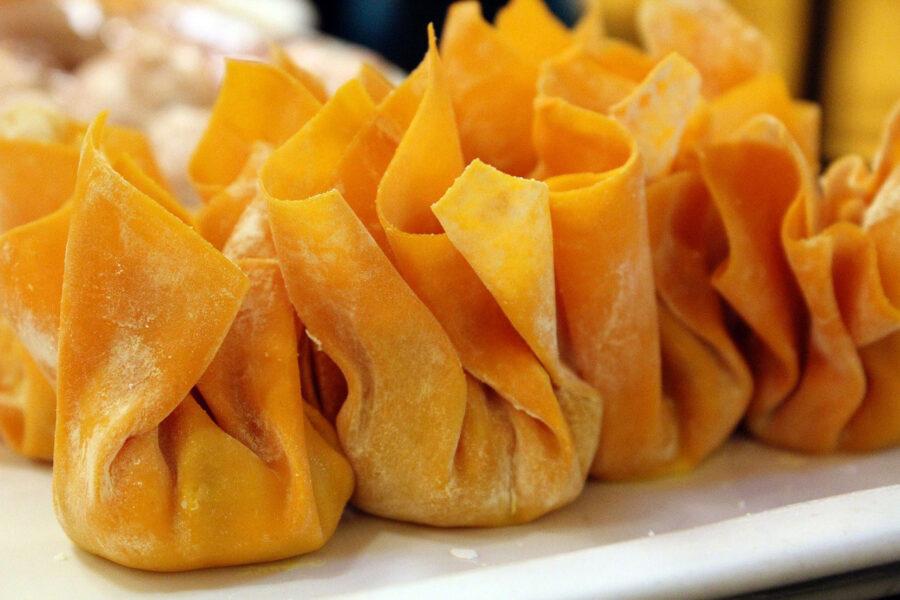 πουγκάκια με μοσχάρι και τυρί