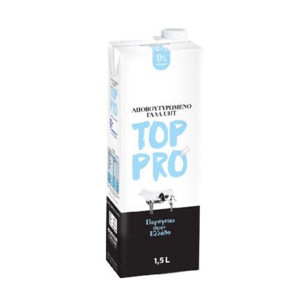 TOP PRO UHT 0% Λιπαρά ιδανικό για κρύα αφρόγαλα και freddo cappuccino