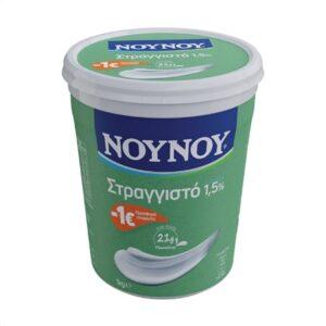 ΝΟΥΝΟΥ Γιαούρτι Στραγγιστό 1,5% Λιπαρά 1kg